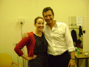 Me with the comedian Adam Hills, backstage at the Assembly